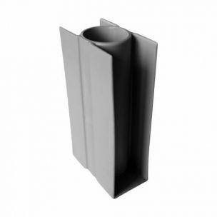 Držák desky průběžný PVC 200/48 mm šedý