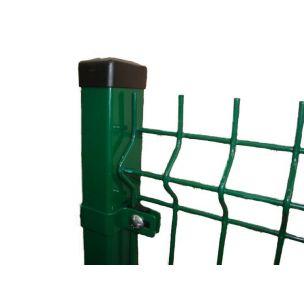 Plotový panel 3D classic PVC zelený 2500x1730mm